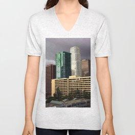 Los Angeles Cityscape Unisex V-Neck
