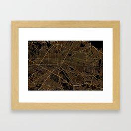 Guadalajara map, Mexico Framed Art Print