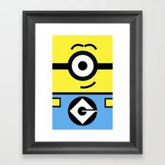 Minion Yellow Framed Art Print