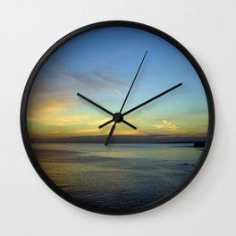 Kimmeridge Bay Sunset #3 Wall Clock