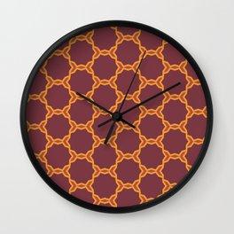 Autumn geometric2 Wall Clock