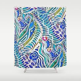 Under the Sea Abstract Nautilus  Shower Curtain