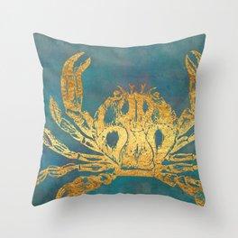 Deep Sea Life Crab Throw Pillow