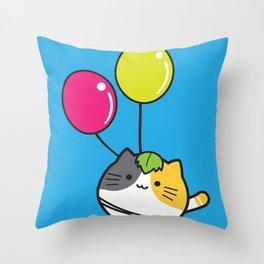 mochi neko Throw Pillow