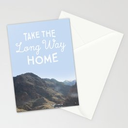 Take the long way home. Stationery Cards