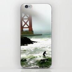 Surfing SF Bay iPhone & iPod Skin