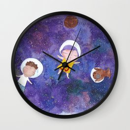 Flying into space Wall Clock