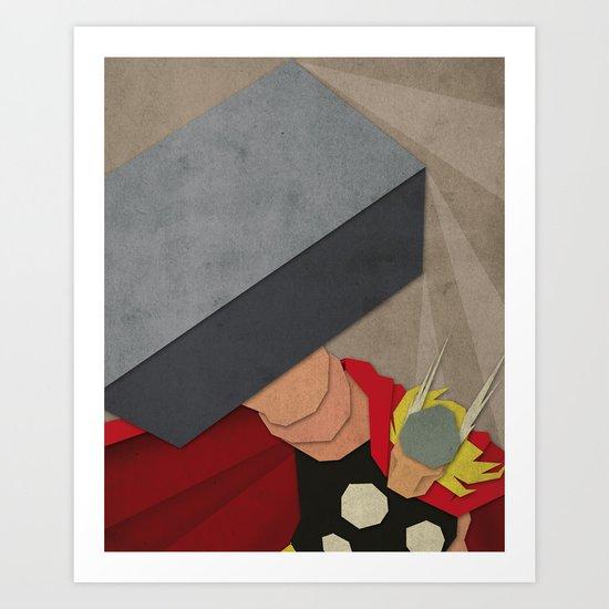 Paper Heroes - Thor Art Print