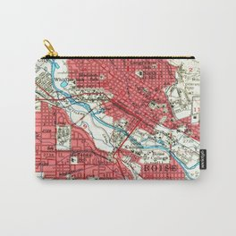 Vintage Map of Boise Idaho (1954) Carry-All Pouch