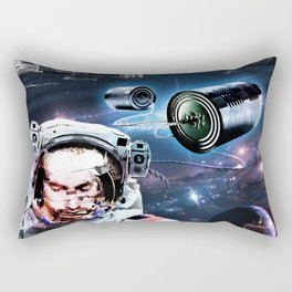 sitting in my tin can Rectangular Pillow
