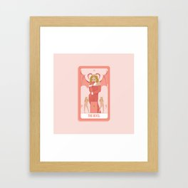 Tarot Card XV: The Devil Framed Art Print