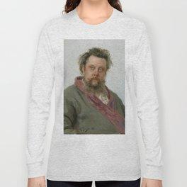 Modest Petrovich Mussorgsky (1839 – 1881) by Ilya Repin in 1881 Long Sleeve T-shirt