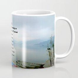 Serenity Prayer With Phewa Lake Panoramic View Coffee Mug