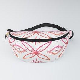 UrbanNesian Pink & Orange Siapo & Malu Design Fanny Pack