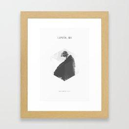 Minimalist Travel Poster - Rialto Beach, La Push, WA Framed Art Print