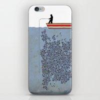 gladiator iPhone & iPod Skins featuring FISH by karakalemustadi