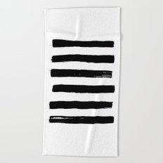 black paint stripes Beach Towel