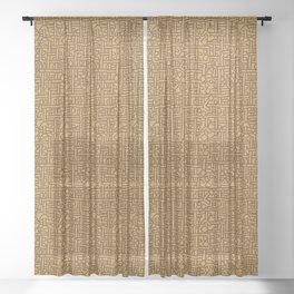 Ornament ethnic Sheer Curtain