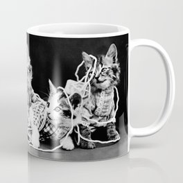 Kittens Playing With Yarn - The Entanglement - Harry Whittier Frees Coffee Mug
