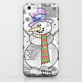 Coloured Snowman iPhone Case