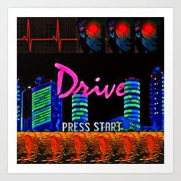Nightcall Drive Art Print