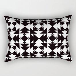 Modern Aztec Black & White Rectangular Pillow