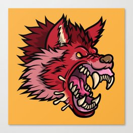 Crimson Wolf Canvas Print