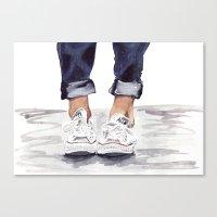 converse Canvas Prints featuring Converse by Bridget Davidson