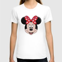 minnie T-shirts featuring Minnie Mouse by Yuliya L