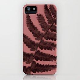 Fern on marsala iPhone Case
