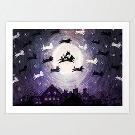 Wolves Sounds Art Print