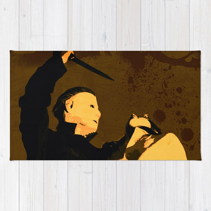 Michael Myers * Halloween * Vintage Horror Movie Inspiration Rug