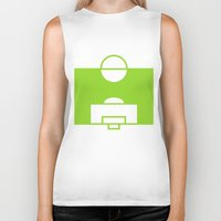 soccer Biker Tanks featuring SOCCER by AURA-HYSTERICA