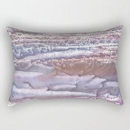 Violet brown hand-drawn wash drawing Rectangular Pillow