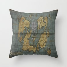 Seimeramus Map Throw Pillow