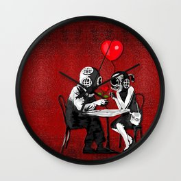 Banksy the Steampunk couple Wall Clock