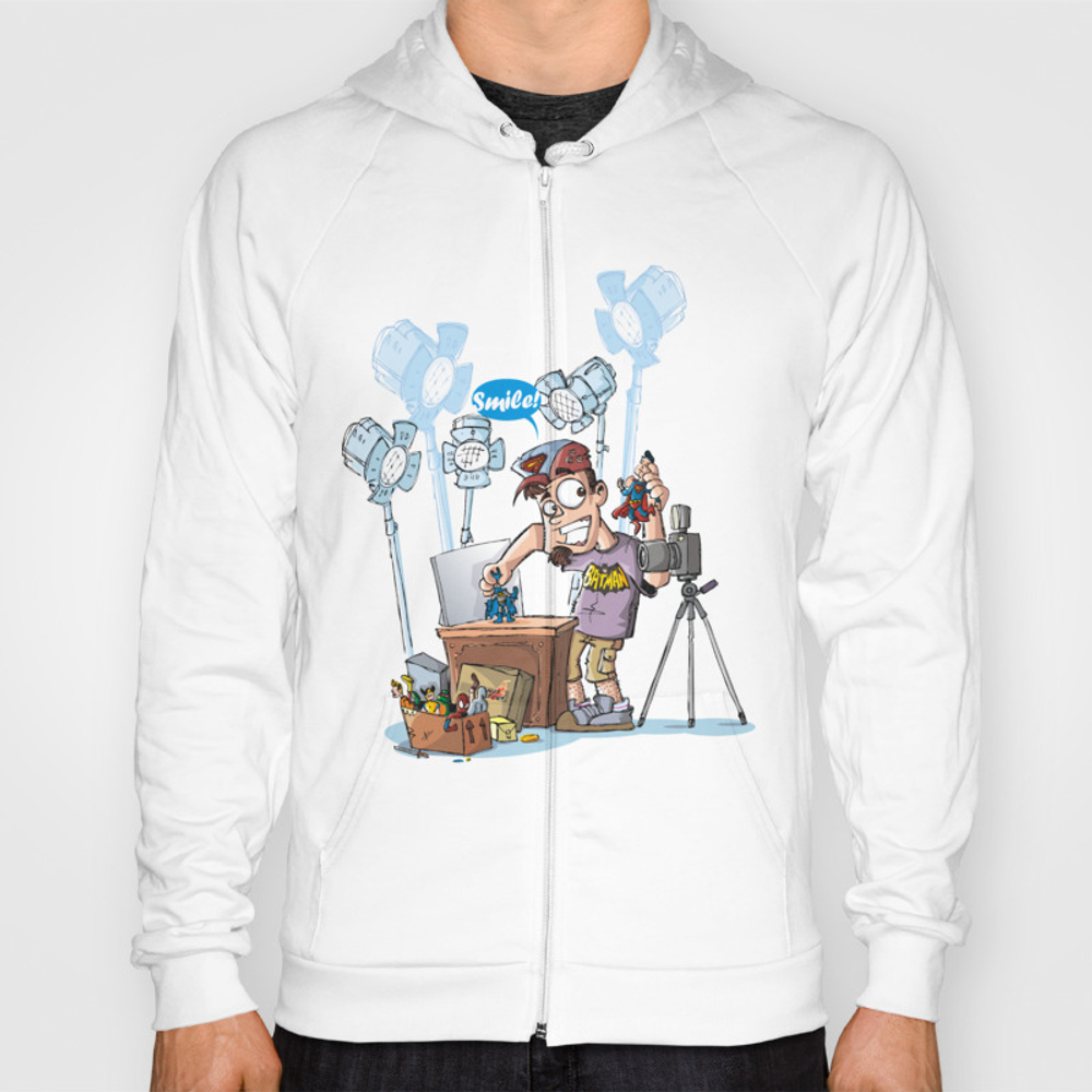 Action Figures Photographer Hoody by Neicosta SSR850839