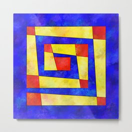 Semirenium - simple coloured cube world Metal Print