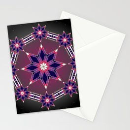 Morning Star Circle (Purple) Stationery Cards