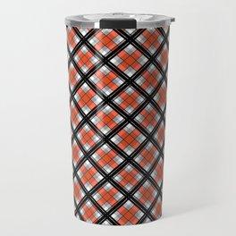 Black and orange plaid Travel Mug