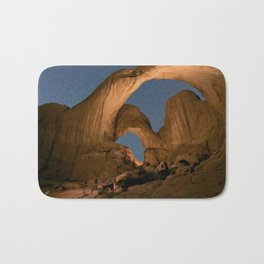 Double Arch And The Milky Way - Arches National Park - Moab, Utah. Bath Mat