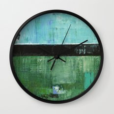 Sky Blue Sky Contemporary Abstract Landscape McNulty Wall Clock