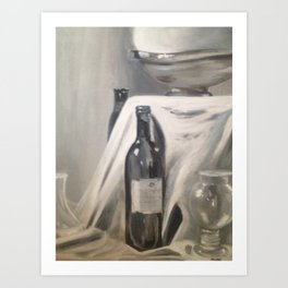 WINE BOTTLE Art Print