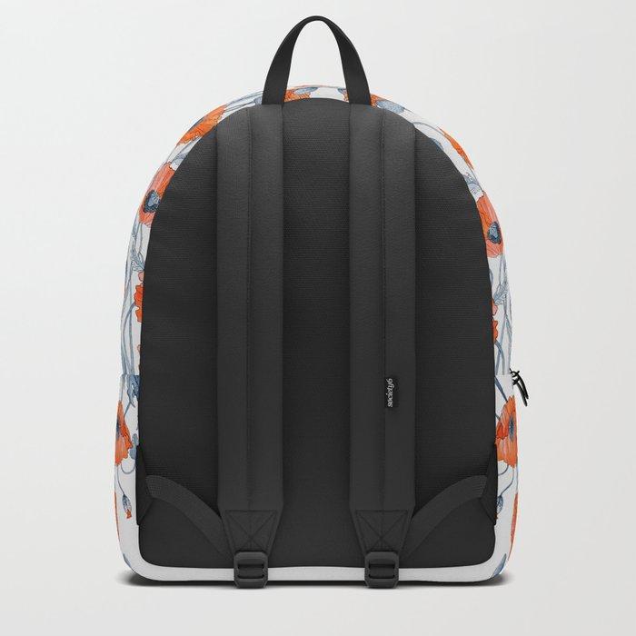 Poppies botanical art Backpack