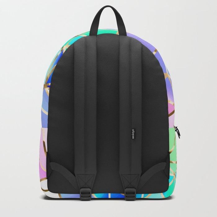 Rainbow Geometric pattern #6 Backpack