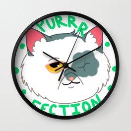 Purrrfection Wall Clock