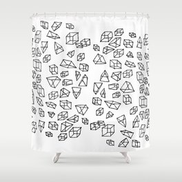 Geometric impulse Shower Curtain