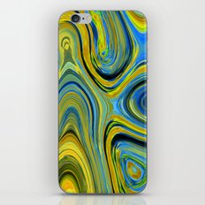 Liquid Yellow And Blue iPhone & iPod Skin