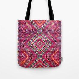 N118 - Pink Colored Oriental Traditional Bohemian Moroccan Artwork. Tote Bag