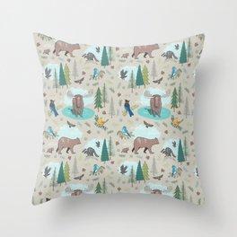 Wild Adventures Throw Pillow
